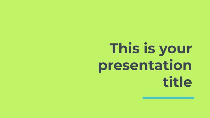Free modern Powerpoint template or Google Slides theme with fresh colors