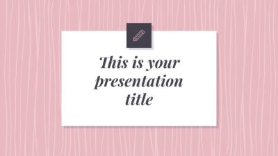 Free elegant and feminine Powerpoint template or Google Slides theme