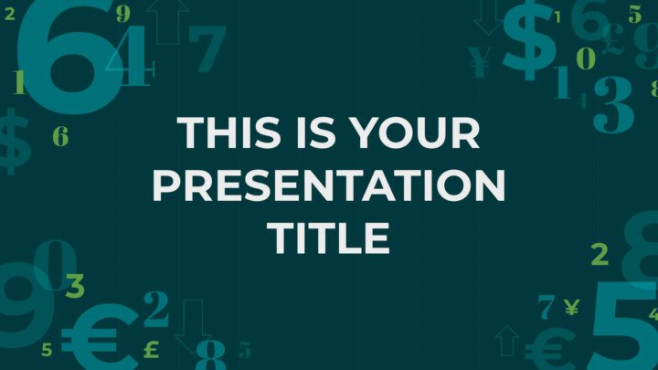 Free business Powerpoint template or Google Slides theme with numbers design