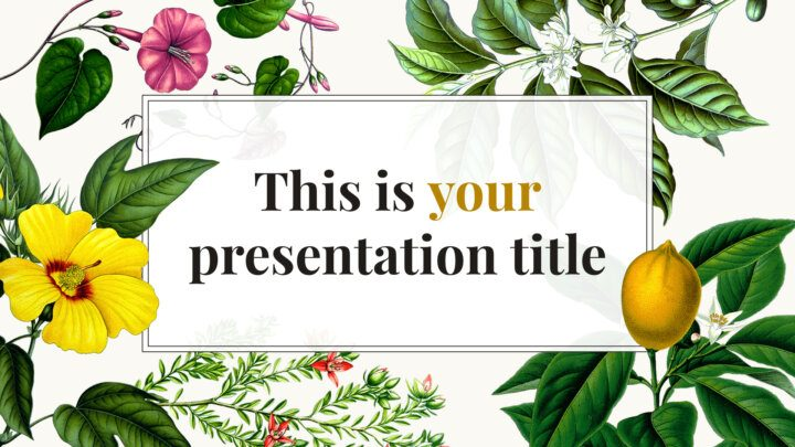 Free creative Powerpoint template or Google Slides theme with flowers