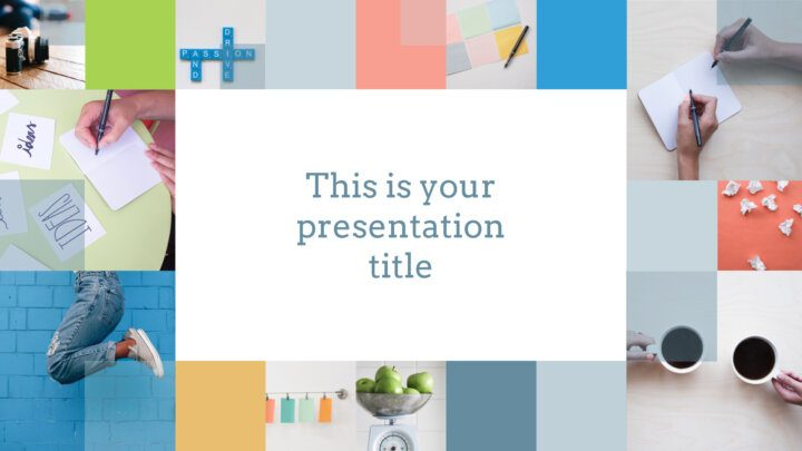 Free fresh and clean Powerpoint template or Google Slides theme
