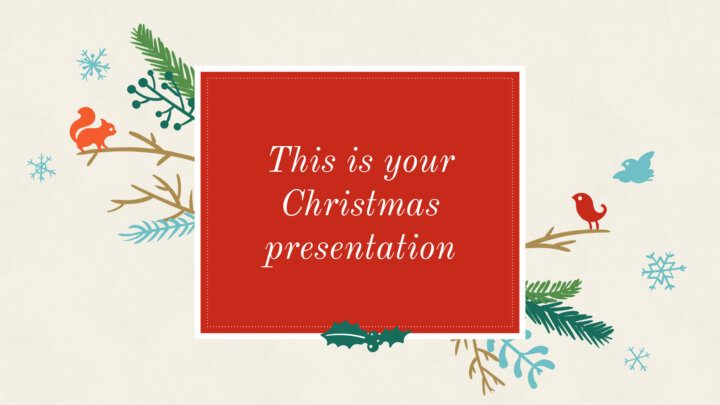 Free Christmas Powerpoint template or Google Slides theme illustrated