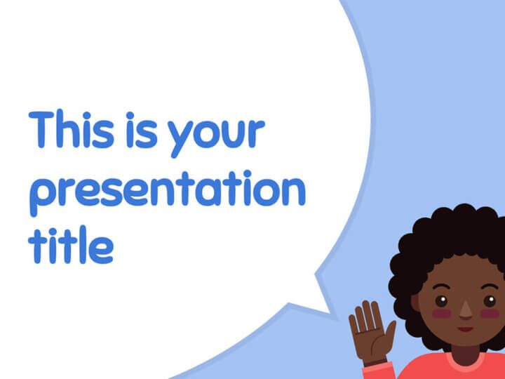 Free cute and playful powerpoint template or google slides theme toneelgroepblik
