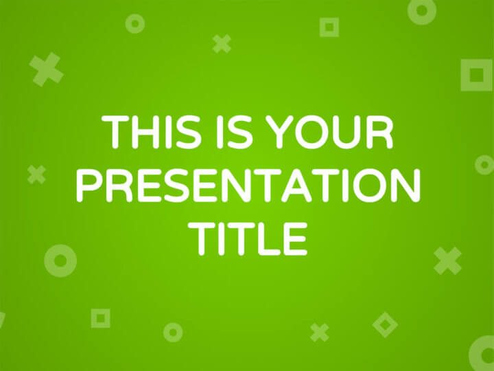 Free fresh and modern Powerpoint template or Google Slides theme