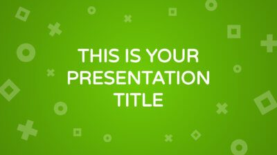 Free maths and geometry presentation - Powerpoint template or Google Slides theme