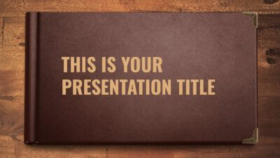 Free education presentation design - Powerpoint template or Google Slides theme with book