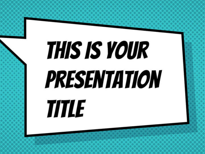 Free Powerpoint template or Google Slides theme with comicbook style