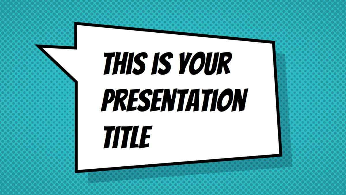 Free fun with comics style presentation - Powerpoint template or Google Slides theme