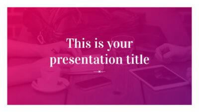 Free modern pink presentation - Powerpoint template or Google Slides theme