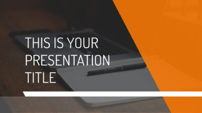 Free modern orange Powerpoint template or Google Slides theme