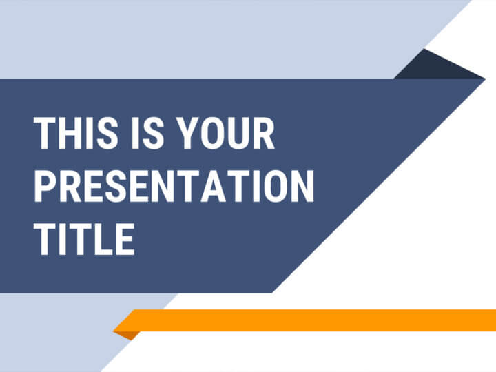 Free business blue Powerpoint template or Google Slides theme
