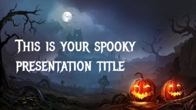 Free Halloween Powerpoint template or Google Slides theme
