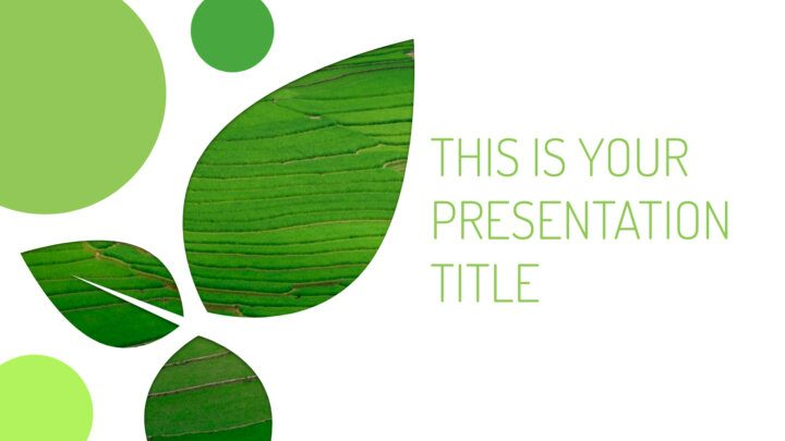 Environment Leaves. Free PowerPoint Template & Google Slides Theme