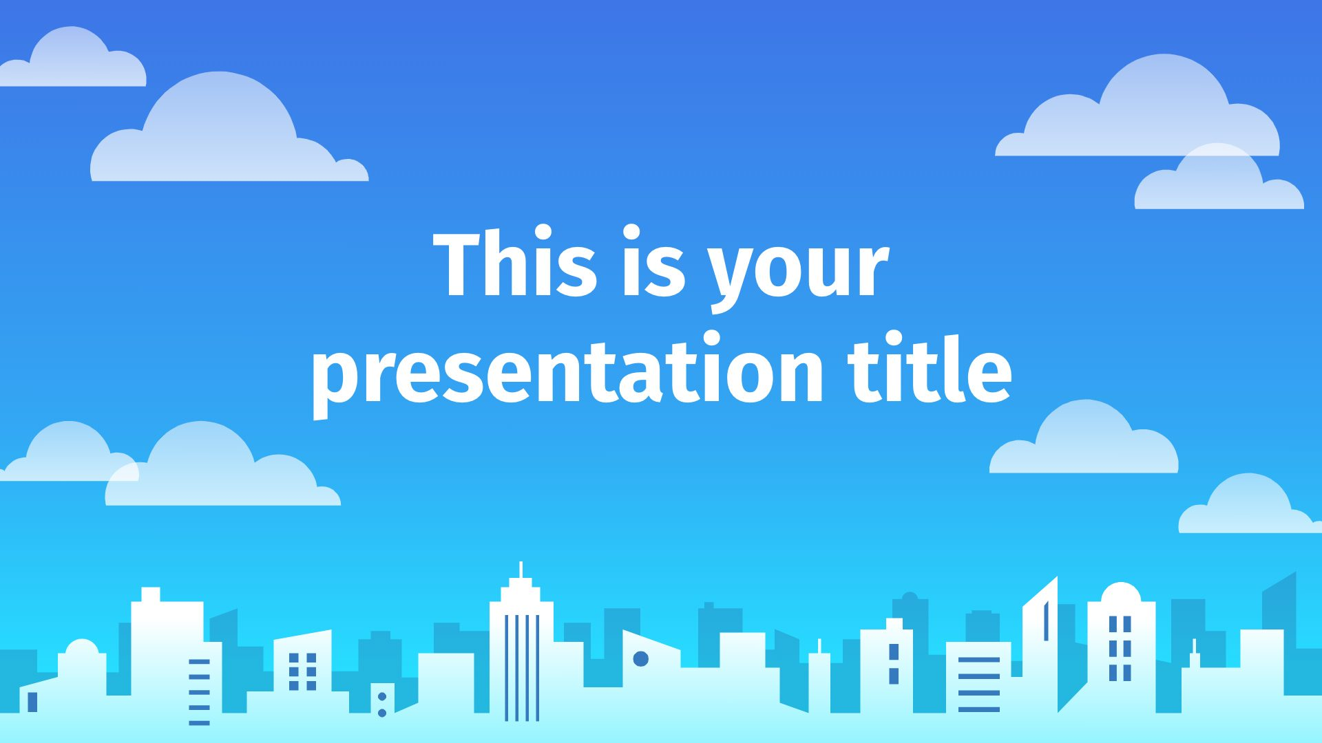 City Skyline Free Powerpoint Template Google Slides Theme