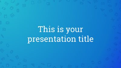 Free Powerpoint template or Google Slides theme with icons pattern