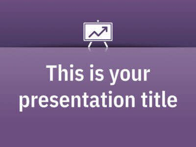 Free Powerpoint template or Google Slides theme simple with color background