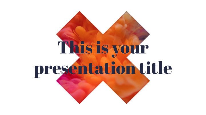 Free Powerpoint template and Google Slides theme with big X design