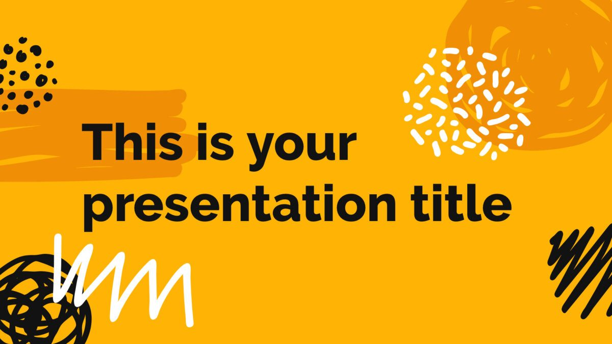 Free creative Powerpoint template or Google Slides theme with scribbles