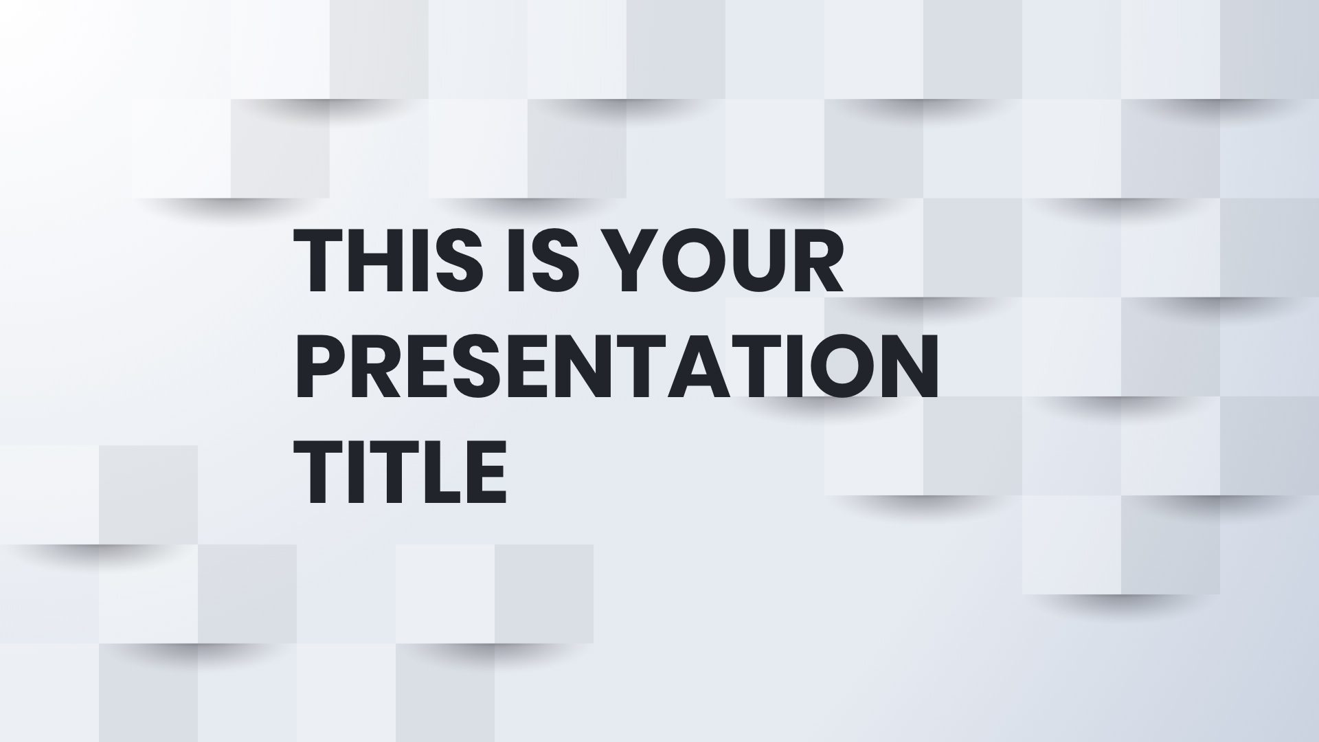 Free Powerpoint template or Google Slides theme with white business background