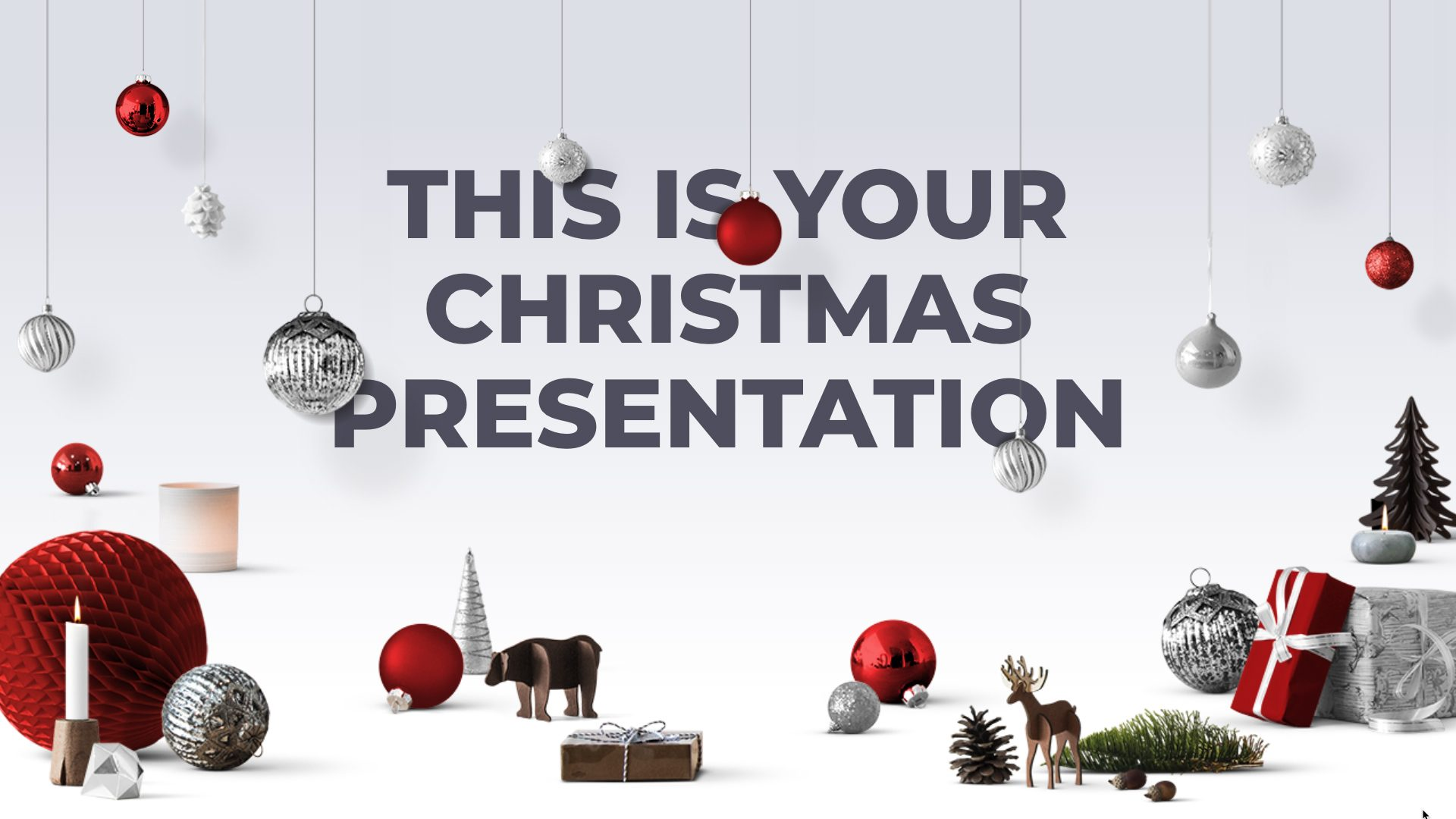 Christmas Ornaments Free Powerpoint Template Google Slides Theme