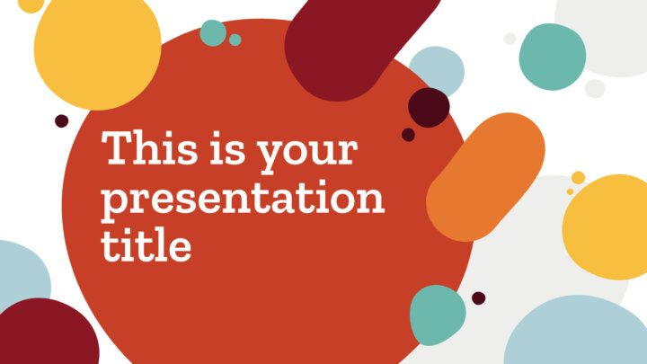 Free organic Powerpoint template or Google Slides theme with colorful blobs