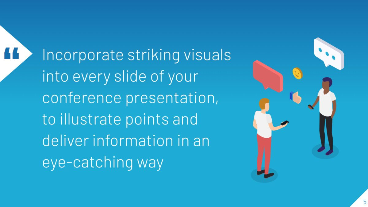 Presentation slide with illustration