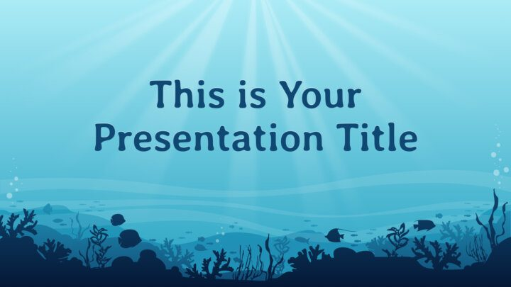 Blue Ocean. Free PowerPoint Template & Google Slides Theme