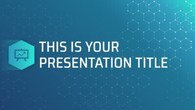 Free science Powerpoint template and Google Slides theme with hexagons