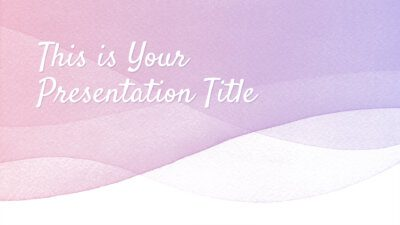 Free pastel PowerPoint template and Google Slides theme with watercolor waves