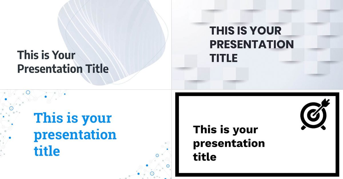 Free White Powerpoint Templates And Google Slides Themes