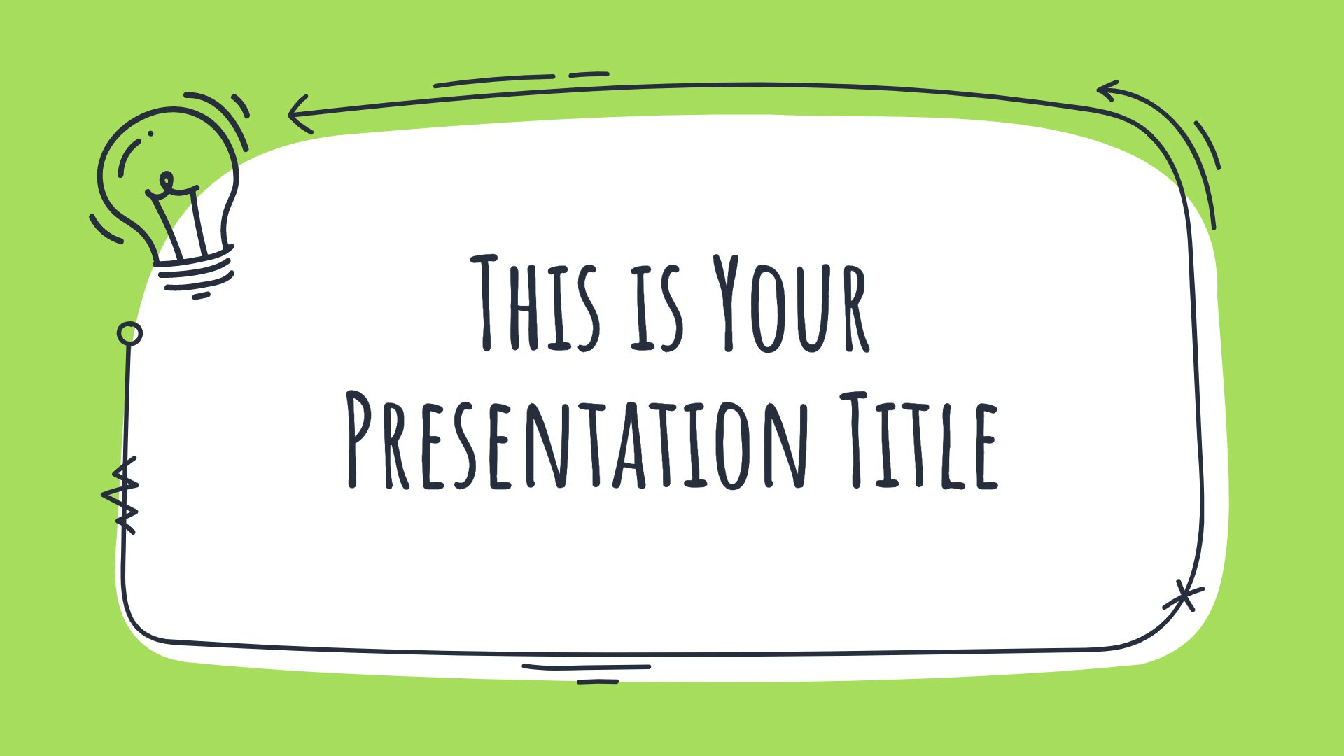Green Doodles Free Powerpoint Template Google Slides Theme