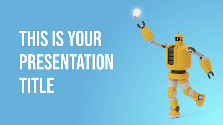 Cute Robots. Free PowerPoint Template & Google Slides Theme
