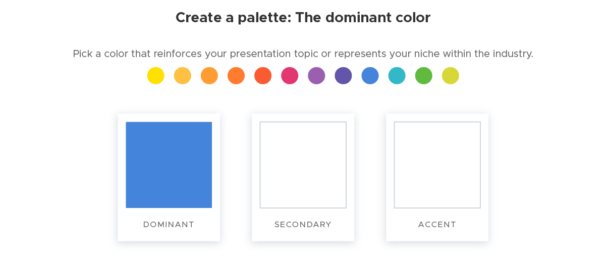 Create a palette - 1 The dominant color