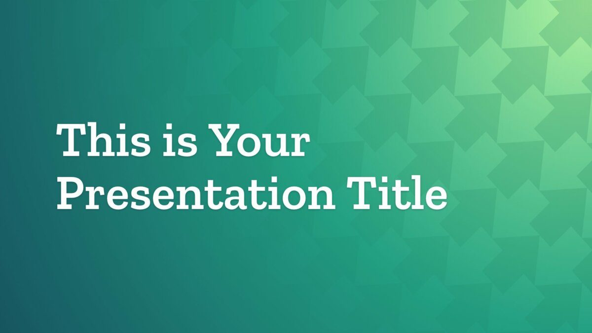 Free green Powerpoint template or Google Slides theme with upward arrows pattern