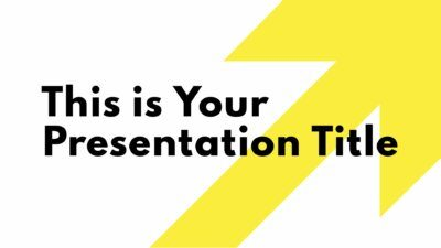 Free modern Powerpoint template or Google Slides theme with a huge yellow arrow