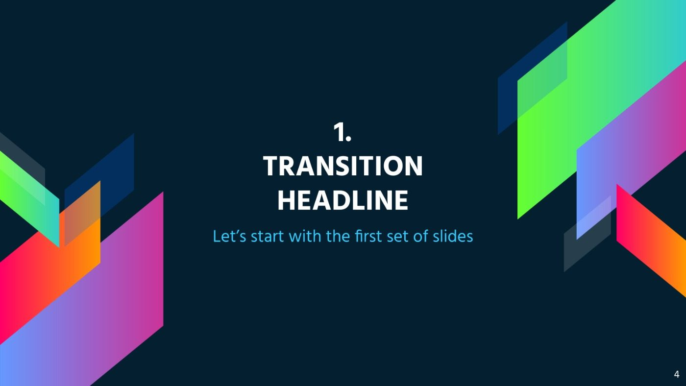 Colorful Geometric Free Powerpoint Template Google Slides Theme