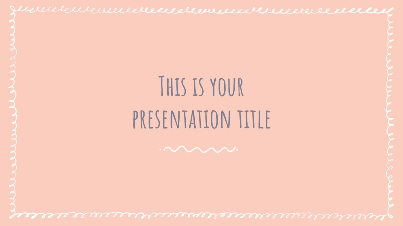 Pastel Scribbles Free Powerpoint Template Google Slides Theme